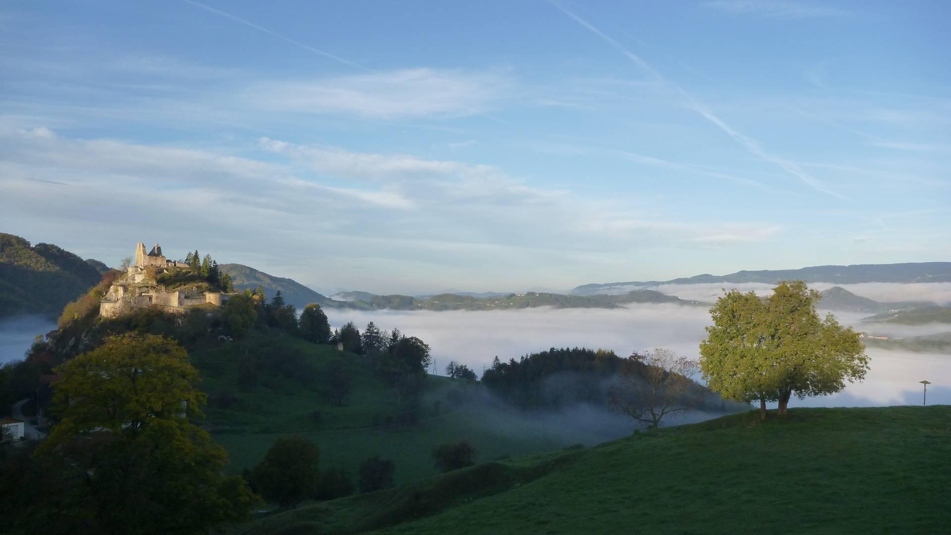 PWSA Etappe 13 Burgruine Rabenstein im Nebel copyright RML GmbH