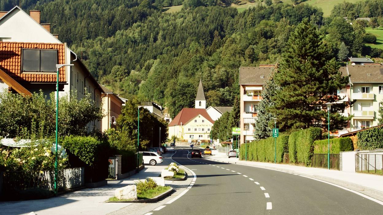 Ortseinfahrt Marktgemeinde FSG